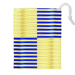 Metallic Gold Texture Drawstring Pouches (XXL)