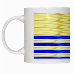 Metallic Gold Texture White Mugs