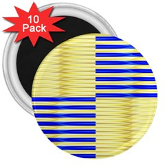 Metallic Gold Texture 3  Magnets (10 pack)