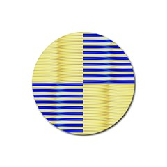 Metallic Gold Texture Rubber Round Coaster (4 pack)