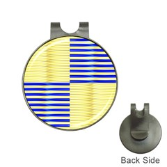Metallic Gold Texture Hat Clips with Golf Markers