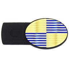 Metallic Gold Texture USB Flash Drive Oval (4 GB)