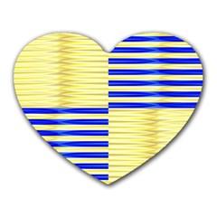 Metallic Gold Texture Heart Mousepads