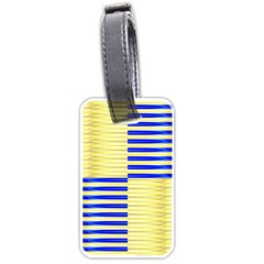 Metallic Gold Texture Luggage Tags (One Side)