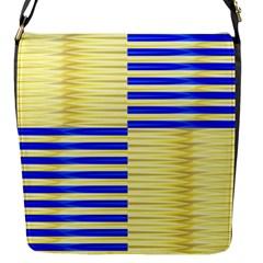 Metallic Gold Texture Flap Messenger Bag (s)