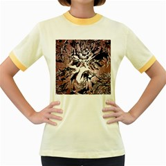 Metal Lighted Background Light Women s Fitted Ringer T-Shirts