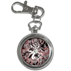 Metal Lighted Background Light Key Chain Watches