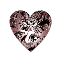 Metal Lighted Background Light Heart Magnet