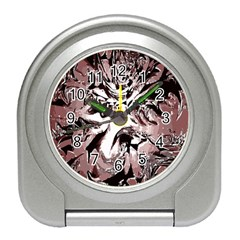 Metal Lighted Background Light Travel Alarm Clocks