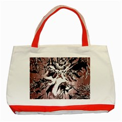 Metal Lighted Background Light Classic Tote Bag (Red)
