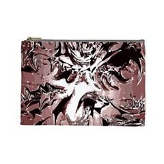 Metal Lighted Background Light Cosmetic Bag (Large)