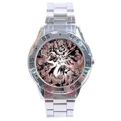 Metal Lighted Background Light Stainless Steel Analogue Watch