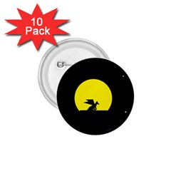 Moon And Dragon Dragon Sky Dragon 1.75  Buttons (10 pack)