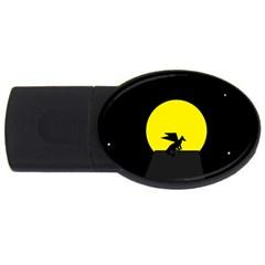 Moon And Dragon Dragon Sky Dragon USB Flash Drive Oval (1 GB)