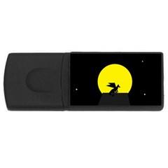 Moon And Dragon Dragon Sky Dragon USB Flash Drive Rectangular (4 GB)