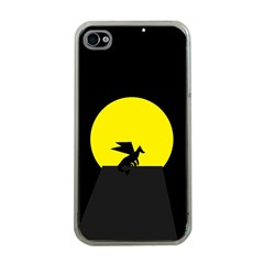 Moon And Dragon Dragon Sky Dragon Apple iPhone 4 Case (Clear)