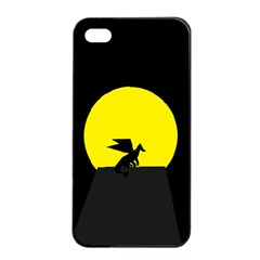 Moon And Dragon Dragon Sky Dragon Apple Iphone 4/4s Seamless Case (black)