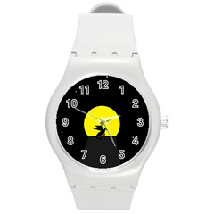 Moon And Dragon Dragon Sky Dragon Round Plastic Sport Watch (m)