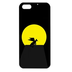 Moon And Dragon Dragon Sky Dragon Apple Iphone 5 Seamless Case (black)