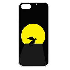 Moon And Dragon Dragon Sky Dragon Apple Iphone 5 Seamless Case (white)
