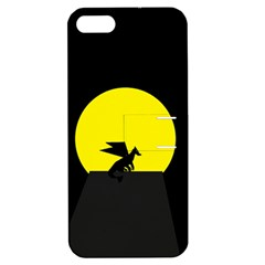 Moon And Dragon Dragon Sky Dragon Apple Iphone 5 Hardshell Case With Stand