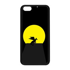 Moon And Dragon Dragon Sky Dragon Apple Iphone 5c Seamless Case (black)