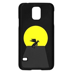 Moon And Dragon Dragon Sky Dragon Samsung Galaxy S5 Case (Black)