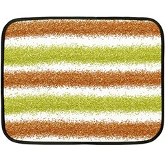 Metallic Gold Glitter Stripes Fleece Blanket (Mini)