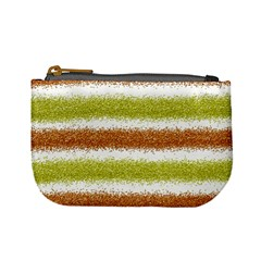 Metallic Gold Glitter Stripes Mini Coin Purses