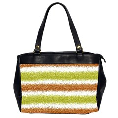 Metallic Gold Glitter Stripes Office Handbags (2 Sides)