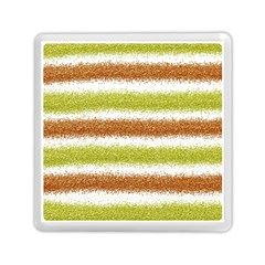 Metallic Gold Glitter Stripes Memory Card Reader (Square)