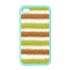 Metallic Gold Glitter Stripes Apple iPhone 4 Case (Color)