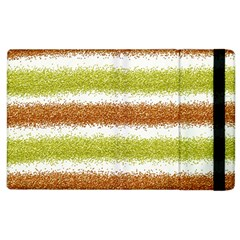 Metallic Gold Glitter Stripes Apple iPad 3/4 Flip Case