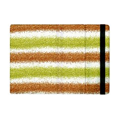 Metallic Gold Glitter Stripes Apple Ipad Mini Flip Case