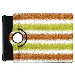 Metallic Gold Glitter Stripes Kindle Fire HD 7