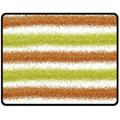 Metallic Gold Glitter Stripes Double Sided Fleece Blanket (medium)
