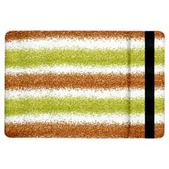 Metallic Gold Glitter Stripes iPad Air Flip