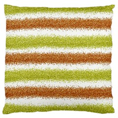 Metallic Gold Glitter Stripes Standard Flano Cushion Case (Two Sides)