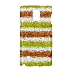 Metallic Gold Glitter Stripes Samsung Galaxy Note 4 Hardshell Case