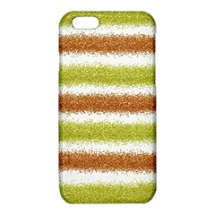 Metallic Gold Glitter Stripes iPhone 6/6S TPU Case
