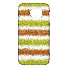 Metallic Gold Glitter Stripes Galaxy S6