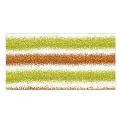 Metallic Gold Glitter Stripes Satin Shawl