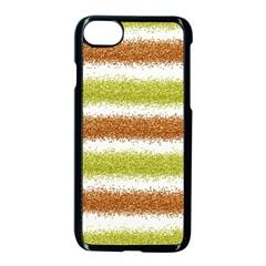Metallic Gold Glitter Stripes Apple iPhone 7 Seamless Case (Black)