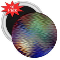 Metallizer Art Glass 3  Magnets (10 pack)