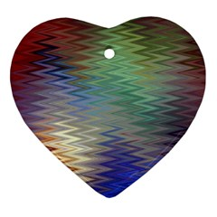 Metallizer Art Glass Heart Ornament (Two Sides)