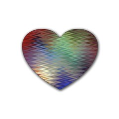 Metallizer Art Glass Heart Coaster (4 pack)