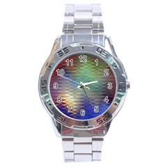 Metallizer Art Glass Stainless Steel Analogue Watch