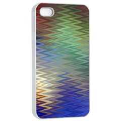 Metallizer Art Glass Apple iPhone 4/4s Seamless Case (White)