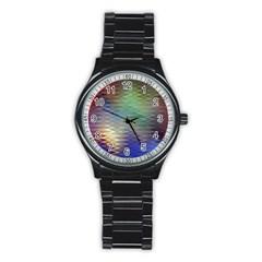 Metallizer Art Glass Stainless Steel Round Watch