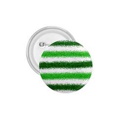 Metallic Green Glitter Stripes 1 75  Buttons